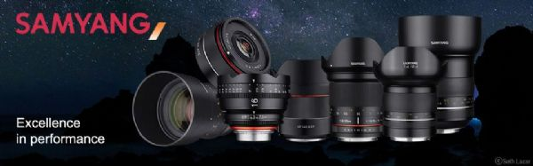 Samyang Camera Lens for widefield Astrophotography